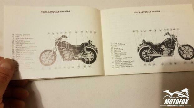 KAWASAKI VN 750 CUSTOM 1986 manuale uso originale - MotoFox